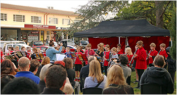 North Ainslie Band plays at the Ainslie Shops Community Fair